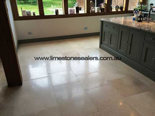 Limestone Floor Tiles after Cleaning