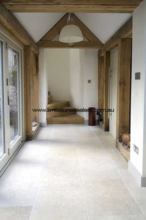 Tatton Limestone Matt White Hall Floor Tile