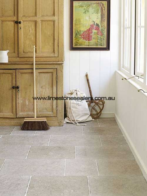 Tatton Limestone Matt White Room Floor Tile