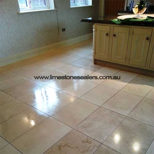 Limestone Tile after Sealing