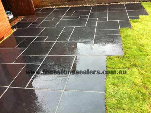 Glenfield Park Limestone after doing the sealing process
