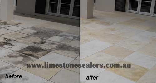 Protect Limestone against Salt Attack before and after