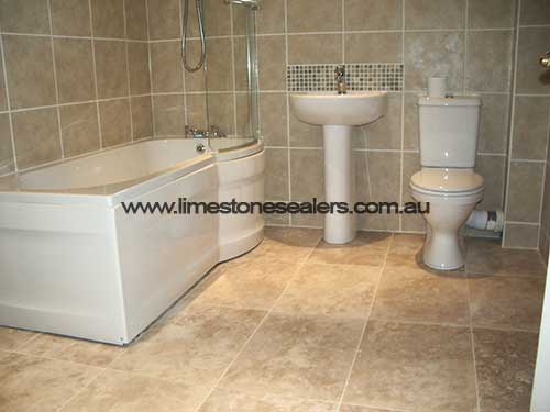 Bouvard bathroom limestone tiles
