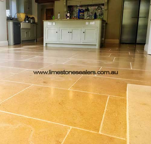 Townsville brown limestone sealed floor