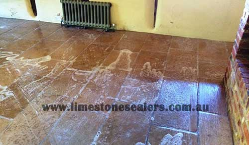 Wagga Wagga during the sealing limestone tiles with good result