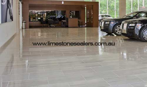 Bouvard garage limestone floor polishing and sealing