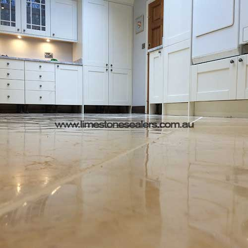 kitchen limestone floor sealing