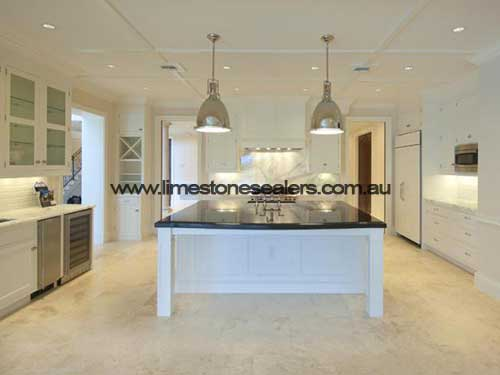 Bunbury kitchen limestone sealing floor tile