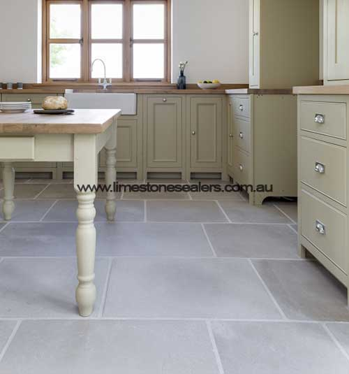 Bunbury kitchen sealing limestone tiles