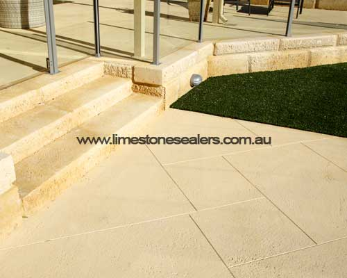 sealing outdoor limestone