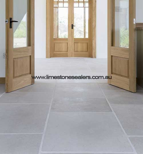 wide entrance Limestone Matt White Floor Tile